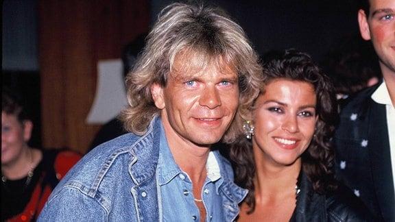Der Sänger Matthias Reim und Mago anfang der 1990 Jahre