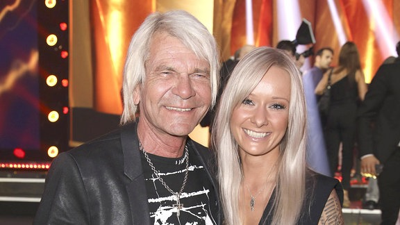 Matthias Reim mit Freundin Christin Stark bei der 12. Verleihung des PRG Live Entertainment Award in der Festhalle Frankfurt.