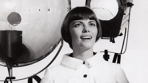 Mireille Mathieu, französische Sängerin, Deutschland 1970.