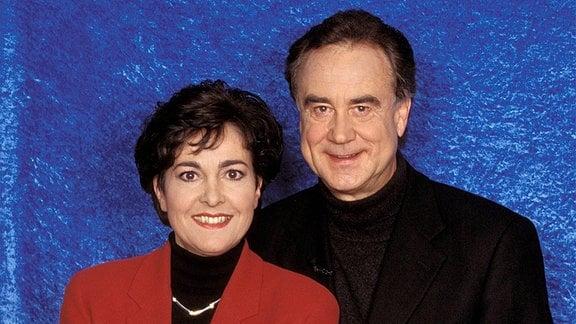 Fernsehmoderatoren Paola und Kurt Felix.