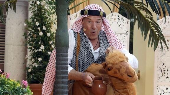 Patrick Lindner als Kamelreiter
