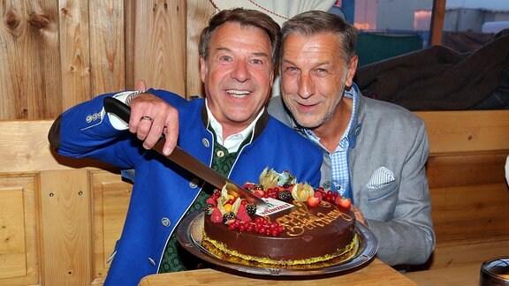 Patrick Lindner und Mann Peter Schaefer