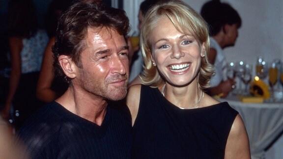 Peter Maffay mit Ehefrau Michaela Herzeg in den 1990er Jahren