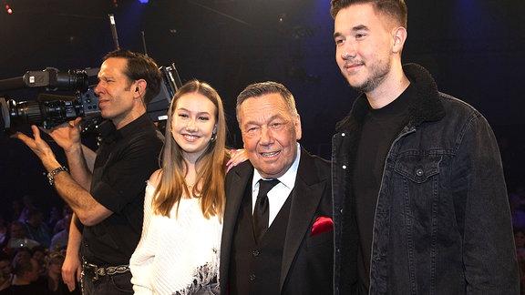 Roland Kaiser mit Tochter Tochter Annalena und Sohn Jan