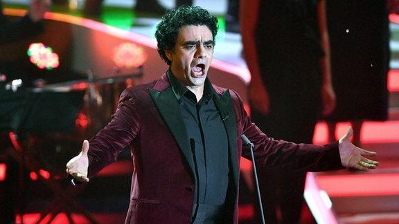 Rolando Villazon singt bei einem Auftritt.