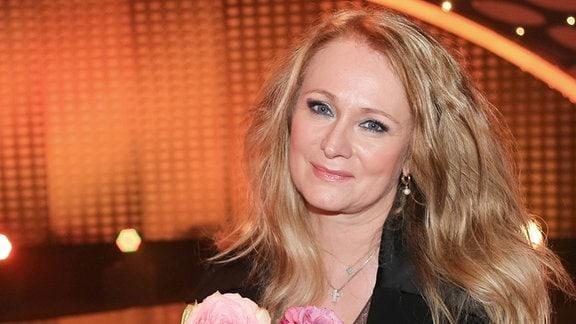 Sängerin Nicole nach der ZDF TV Show -Willkommen bei Carmen Nebel in Magdeburg.