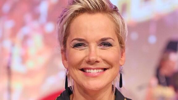 Inka Bause bei der MDR-Fernsehshow Kult-Hits mit Kim Fisher, in der Kongresshalle am Zoo in Leipzig - 04.09.2018