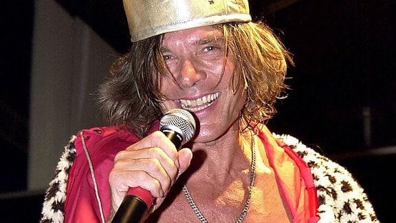 Sänger Jürgen Drews verkleidet als König von Mallorca