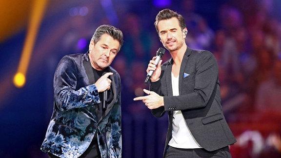 Fernsehmoderator Florian Silbereisen und Sänger Thomas Anders