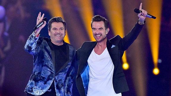 Thomas Anders und Florian Silbereisen gemeinsam auf einer Bühne