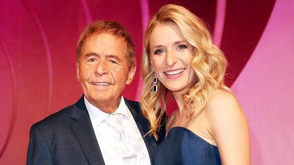 Moderatorin Stefanie Hertel mit ihrem Vater Eberhard Hertel.