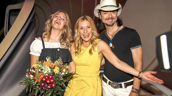 Johanna Mross, Stefanie Hertel und Lanny Lanner