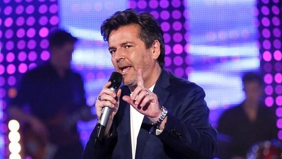 Thomas Anders bei der Aufzeichnung der MDR TV-Show Meine Schlagerwelt - Die Party mit Ross Antony im Eventpalast.