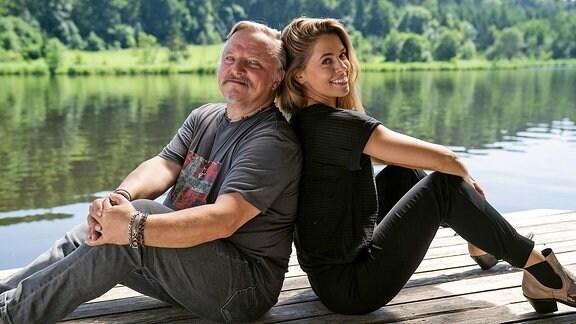 Axel Prahl und Vanessa Mai