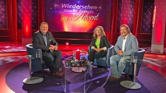 Axel Bulthaupt mit Kathrin und Peter bei Wiedersehen macht Freude im Advent