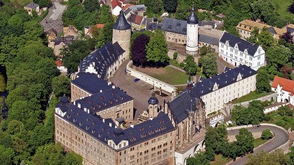 Luftbild vom Schloss Altenburg