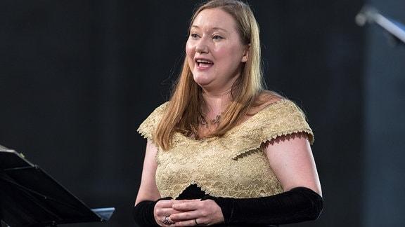 Sopranistin Dorothee Mields beim Singen