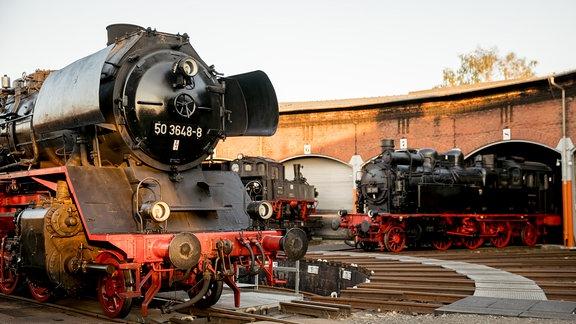 Lokomotiven im Eisenbahnmuseum Chemnitz