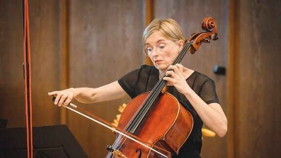 Ruth Kaltenhäuser, Cellistin des Klenke Quartetts Diakonissen-Mutterhaus Elbingerode