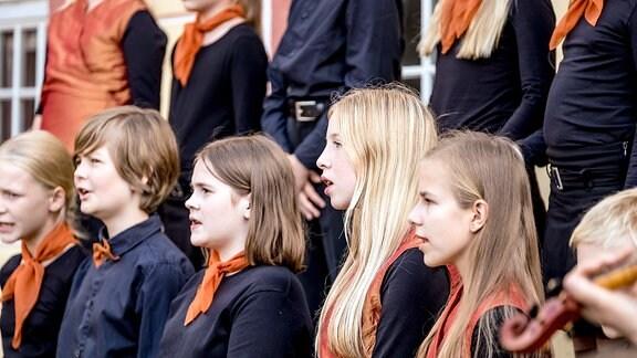 Kinder des MDR-Kinderchors singen