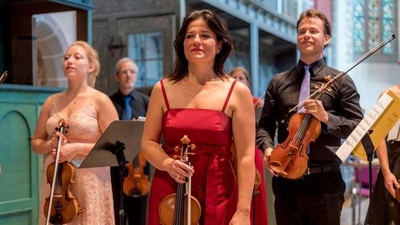Die Kammersymphonie Leipzig beim MDR-Musiksommer in der Kulturkirche in Weißensee.