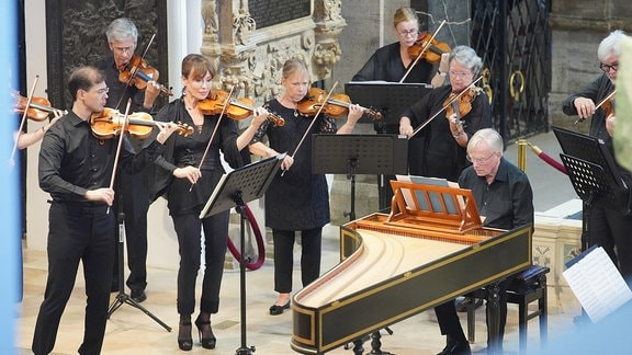 Die Academy of St Martin in the Fields beim MDR-Musiksommer-Konzert in der Weimarer Herderkirche.