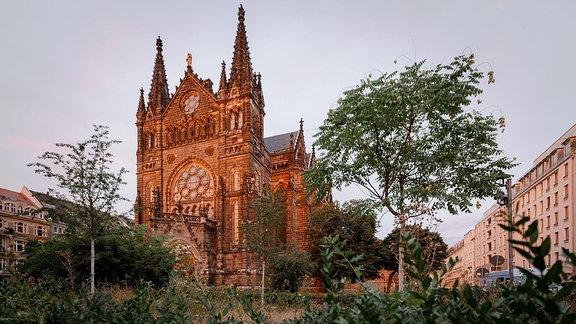 Große Kirche in Abendsonne