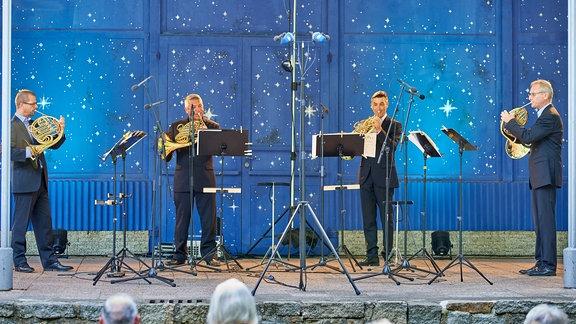Das Leipziger Hornquartett im Pavillon der Stadthalle Görlitz