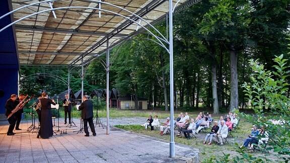 Kammermusikensemble aus dem MDR-Sinfonieorchester im Pavillon der Stadthalle Görlitz