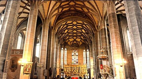 Zwickau, Dom St. Marien von innen