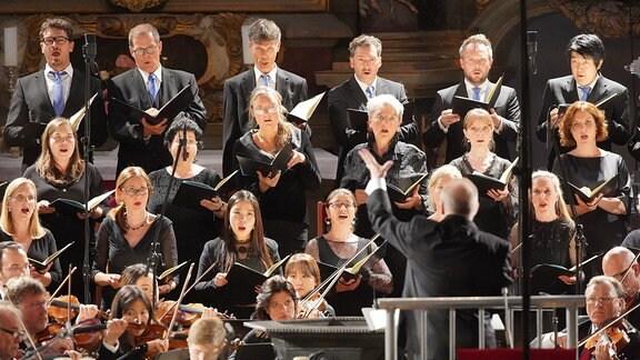 Die MDR-Ensembles beim MDR-Musiksommer-Konzert in Naumburg