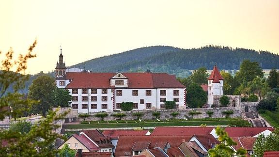 Schloss Wilhelmsburg in Schmalkalden im Abendlicht