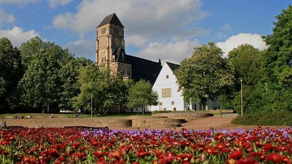 Außenansicht der Schlosskirche in Chemnitz