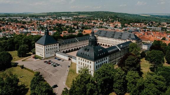 Luftaufnahme von Schloss Friedenstein in Gotha