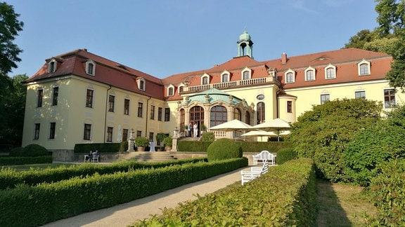 Außenansicht von Schloss Proschwitz