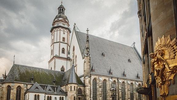 Außenansicht der Leipziger Thomaskirche