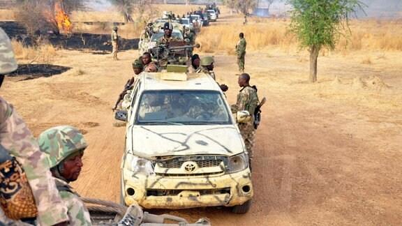 Truppen der Boko Haram in Nigeria