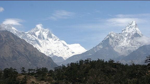 Ein Blick auf das Himalayagebirge