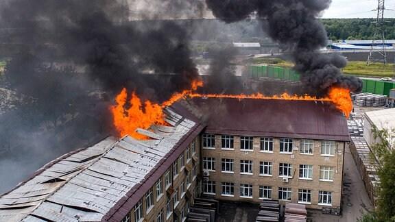 Kraftwerksbrand in Moskau