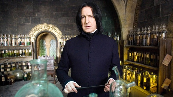 Alan Rickman als Snape in Harry Potter.