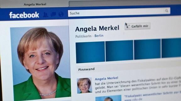 Angela Merkels Facebook-Profil