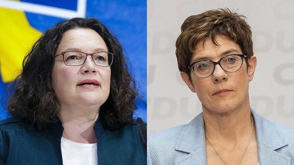 Annegret Kramp Karrenbauer und Andrea Nahles