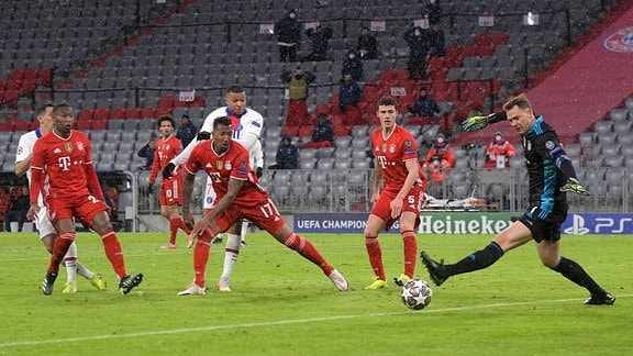 Jerome Boateng, Kylian Mbappe und Manuel Neuer