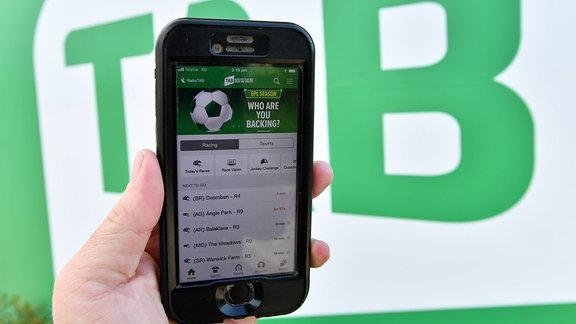 Sportwetten App auf einem Smartphone