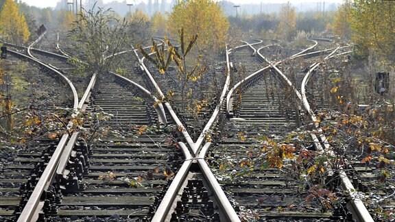 Gleise, stillgelegter Rangierbahnhof