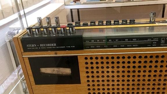 Ein Stern-Radiorecorder.