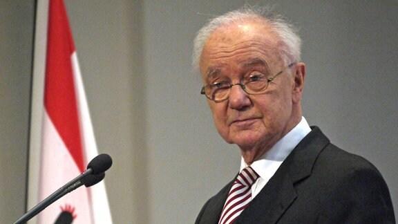 Manfred Stolpe, ehemaliger Konsistorialpräsident der evangelischen Kirche in der Ex-DDR und späterer Bundesminister
