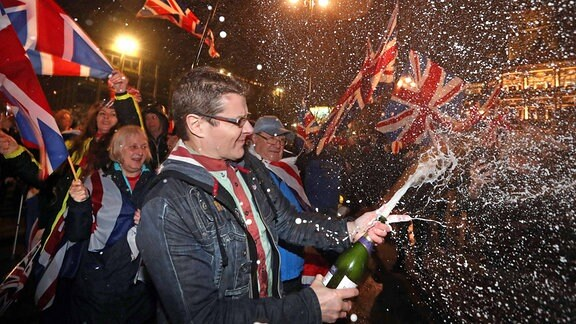 Brexit-Befürworter feiern