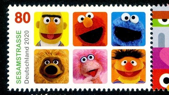 Briefmarke Deutsche Post: Sesamstraße