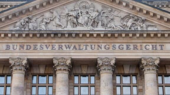 Außenansicht des Bundesverwaltungsgerichtes in Leipzig